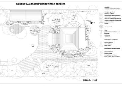 Projekt ogrodu przydomowego techniczny - wykonawczy