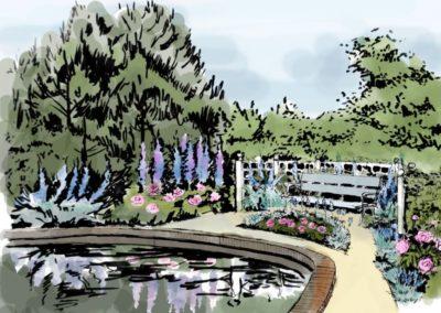 Wizualizacja ogrodu w stylu angielskim