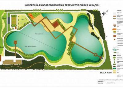Projekt zagospodarowania terenu kąpieliska pod Warszawą