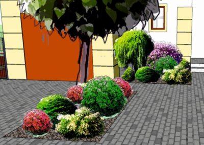 Wizualizacja rabaty przed domem