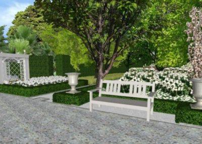 Wizualizacja ogrodu francuskiego