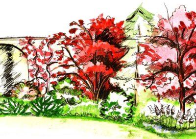 Wizualizacja ogrodu romantycznego