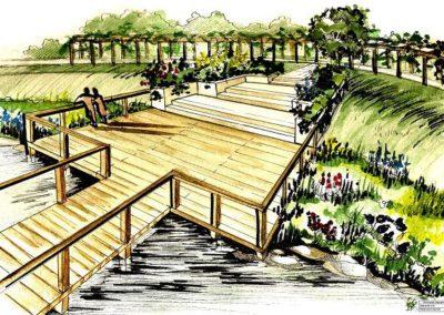Wizualizacja ogrodu wodnego